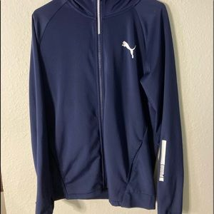 Puma Navy Blue Lightweight Athletic Jacket.